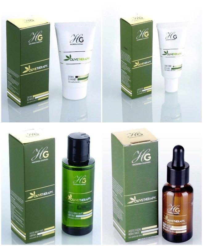 productos cosméticos de aceite de oliva