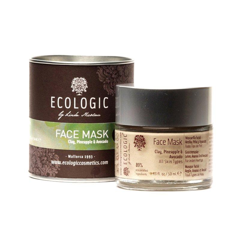 mascarilla de aguacate, arcilla y piña de Ecologic Cosmetics by Linda Nicolau