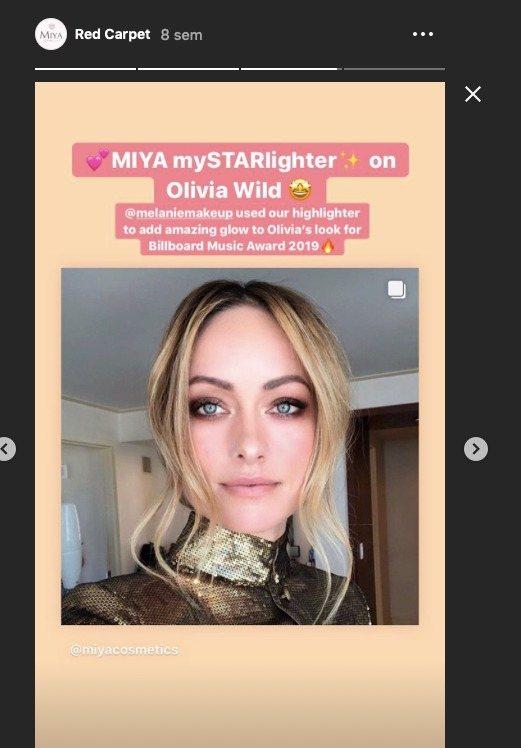 Olivia Wild para Miya Cosmetics