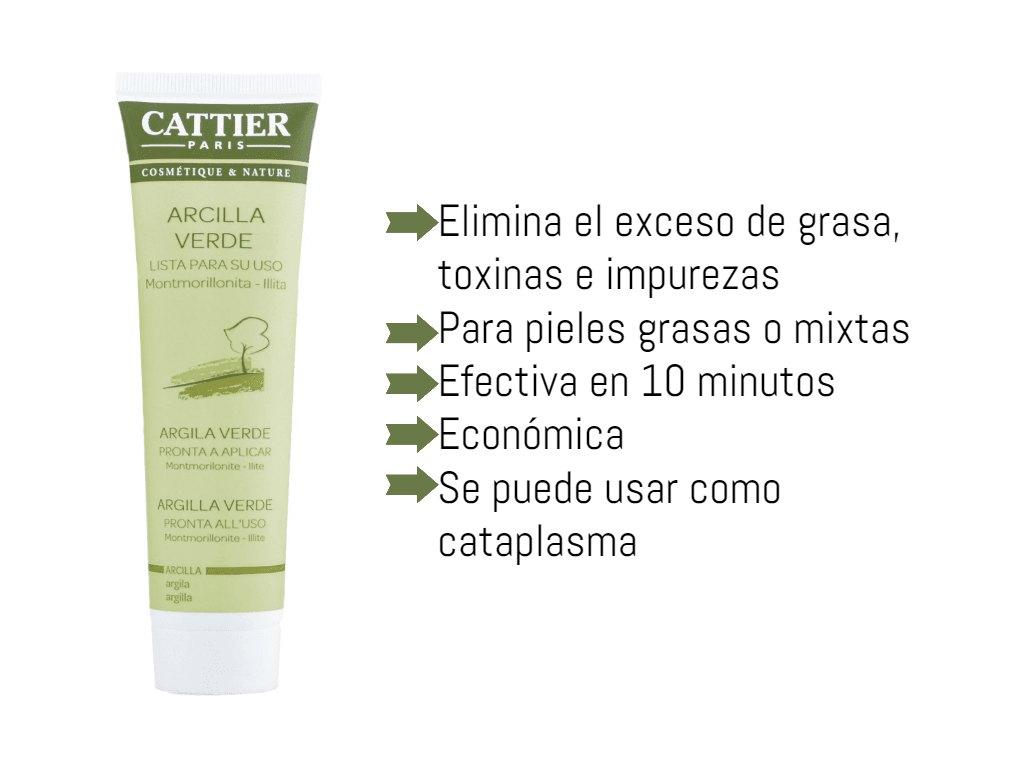 mascarilla arcilla verde Cattier