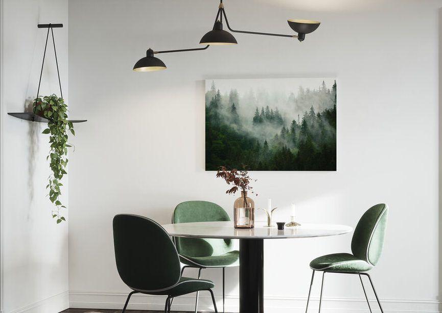 lienzo bosque para salon pequeño